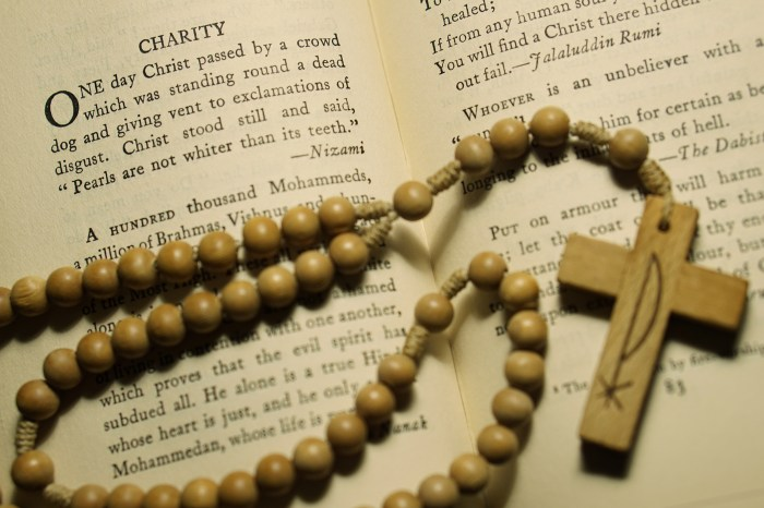 September 15th - Book and Rosary
