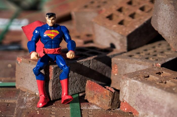 Superman on Bricks