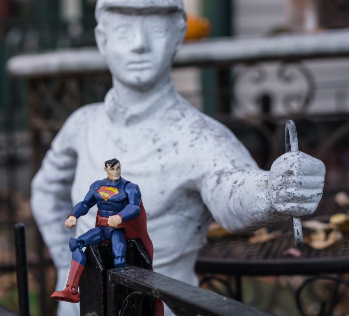 Superman on the Fence