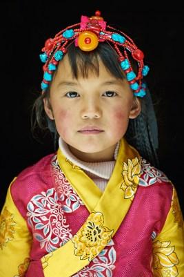 Local girl Tibet by Simon Urwin