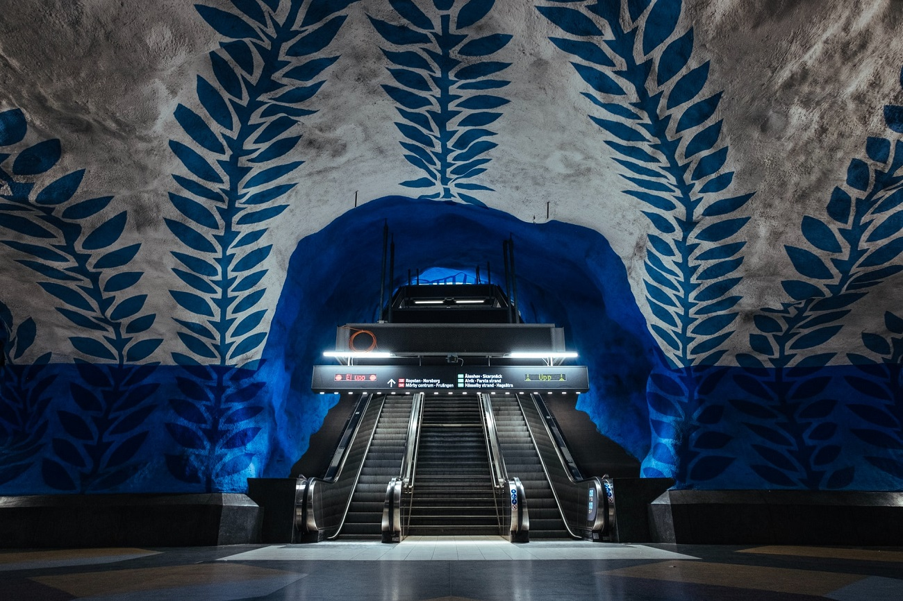 T-Centralen beautiful metro stations Stockholm