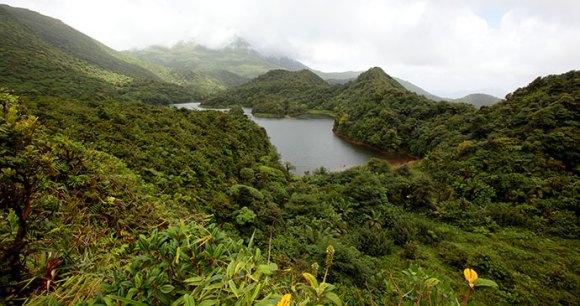 Fresh water lake, Dominica © Paul Crask