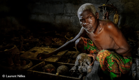 Voodoo priest Bopa Benin by Laurent Nilles