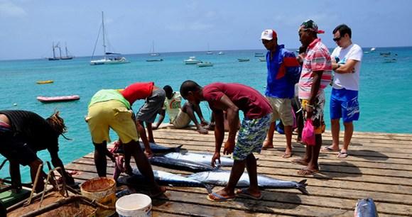 Fishermen, Santa Maria, Sal Island, Cape Verde