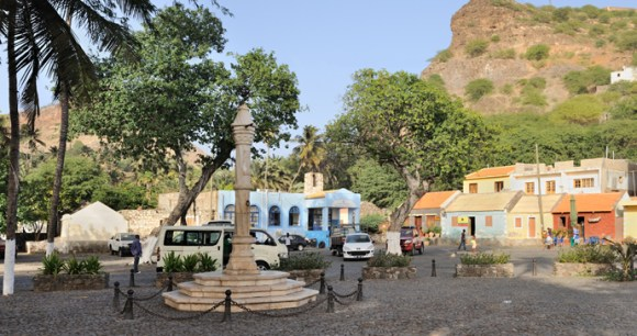 Pelourino Square in colourful Cidade Velha, Cape Verde