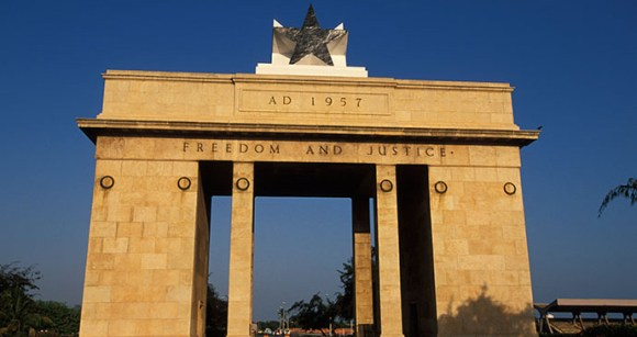 The Black Star Arch, a monument to Ghana's independence struggle © Ariadne Van Zandbergen