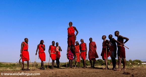 Maasai dancing Kenya Eric Lafforgue