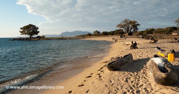 Canoes Lake Niassa Mozambique by Africa Image Library