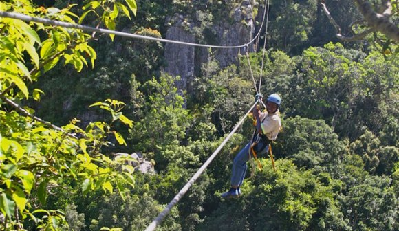 Zipline in Malolotja Nature Reserve eSwatini Africa by Mike Unwin