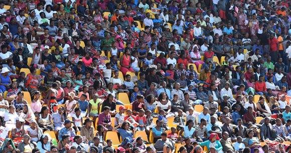 Crowds, 50:50 celebration, Swaziland by Sophie Ibbotson