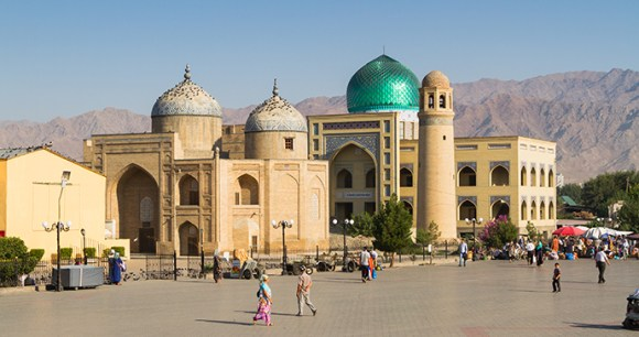 Khujand mosque Tajikistan by Milosz Maslanka Shutterstock