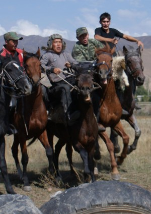 Buz kashi players, Tajikistan by Maximum Exposure Productions