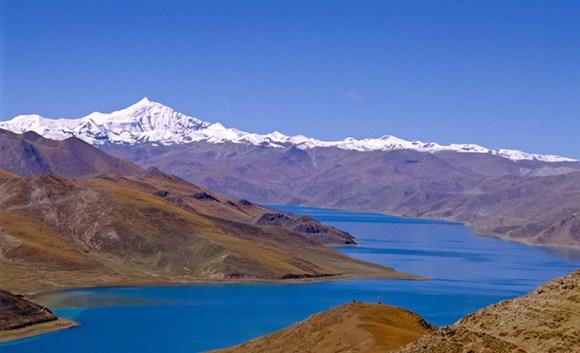 Yamdrok Tso Tibet China
