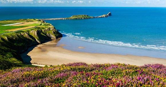 Rhossili Bay Britain by Billy Stock Shutterstock