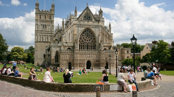 Exeter Cathedral East Devon Britain UK by Tony Howell Heart of Devon Images