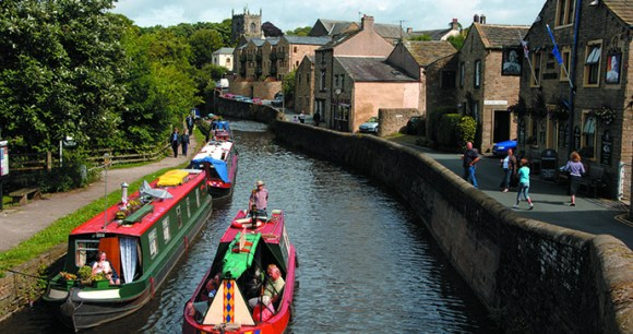 Leeds and Liverpool Canal Skipton Yorkshire Dales England by Canal & River Trust