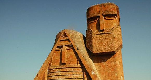 Statue in Stepanakert by Salajean