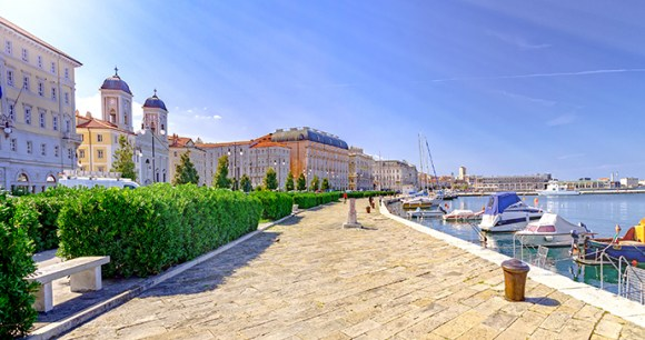Promenade and port, Trieste, FVG, Italy by Boerescu, Shutterstock