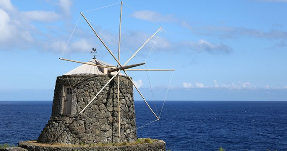 Windmill Corvo Azores by Boarding1Now Dreamstime
