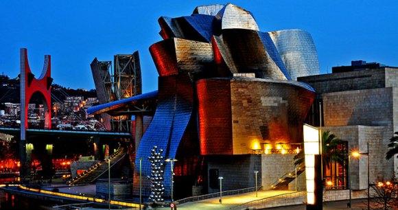 Guggenheim Museum Bilbao Spain Basque Country by Santi Rodriguez Shutterstock