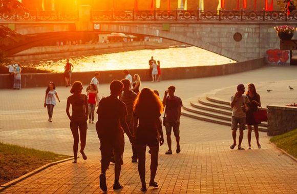 Gorky Park, Minsk, Belarus, Europe, Ryhor Bruyeu