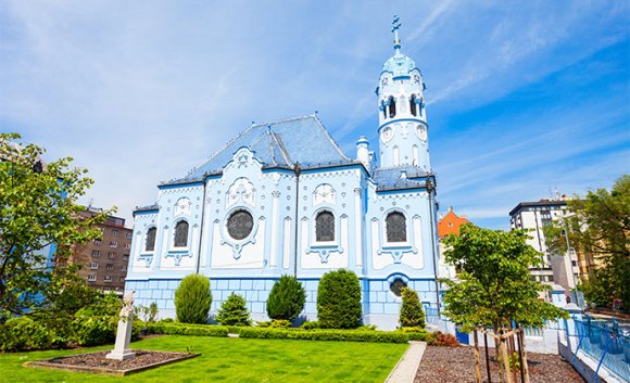 Blue Church Bratislava Slovakia by saiko3p, Shutterstock