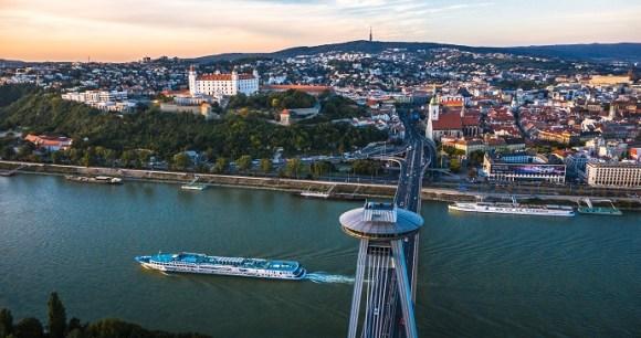 Bratislava Cityscape Slovakia by DUOMEDIA