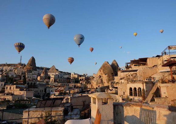 Hot air balloons Goreme Cappadocia Turkey by Anna Moores