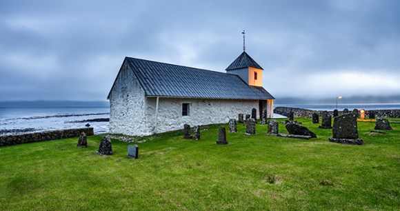 church, Kirkjubøur, Faroe Islands by Nick Fox, Shutterstock