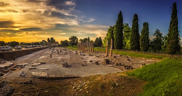 Roman ruins Aquileia Italy by Lytd11, Shutterstock