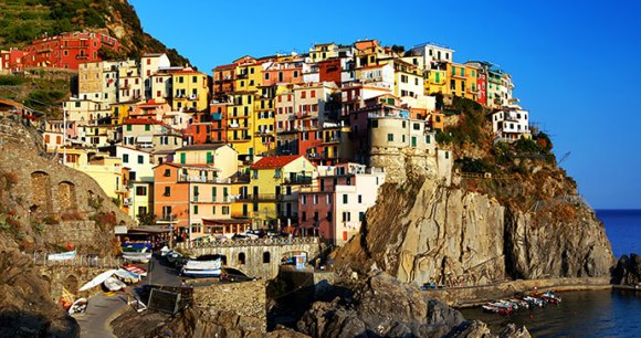 Manarola Cinque Terre Liguria Italy by Mikadun Shutterstock