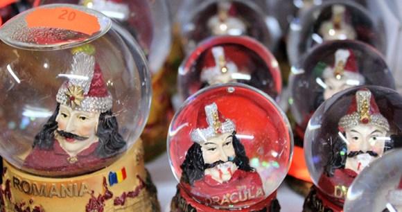 Dracula snow globes, Transylvania, Romania by Paul Brummell