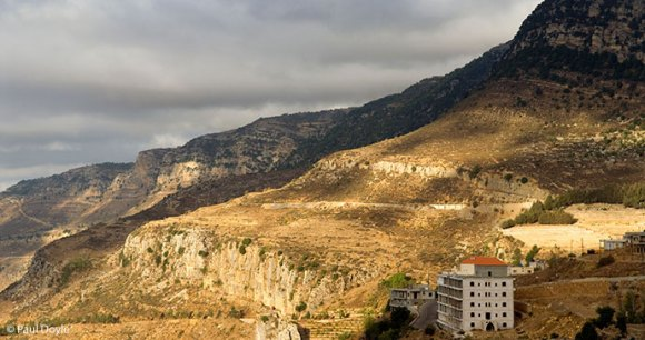 A view over mountains and valley from Jezzine, Lebanon © Paul Doyle