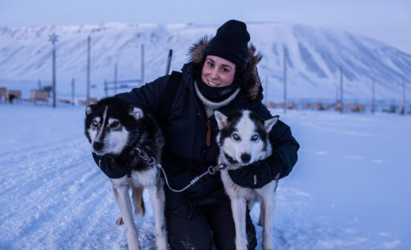 Kelsey Camacho and huskies Svalbard by Kelsey Camacho