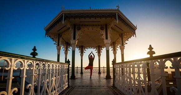 Hot yoga Brighton England UK Anna Ewa Bienek Shutterstock