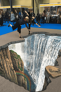 Victoria Falls 3D artwork, Destinations Show London © Zambia Tourism