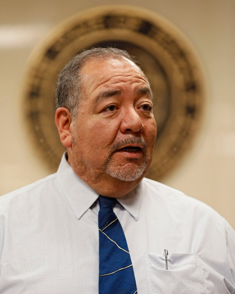 Judge Ruben Reyes, with the 72nd District Court, talks about the history of the drug court and specialty courts Wednesday, March 6, 2019, at Lubbock County Courthouse in Lubbock, Texas. [Brad Tollefson/A-J Media]
