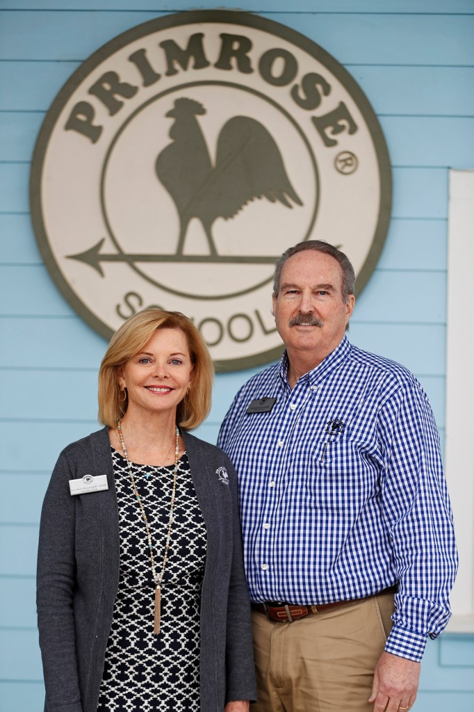 Lou Ann McLaughlin and Michael McLaughlin, the franchise owners of Primrose School of Midland at Westridge, Tuesday, April 23, 2019 in Midland, Texas. (Brad Tollefson/AP Images for Primrose Schools)