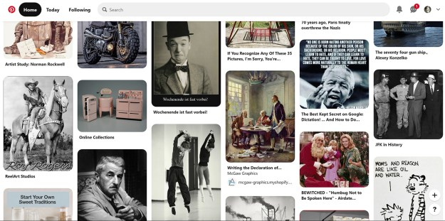 Pinterest thinks momentary flickers of interest define me.