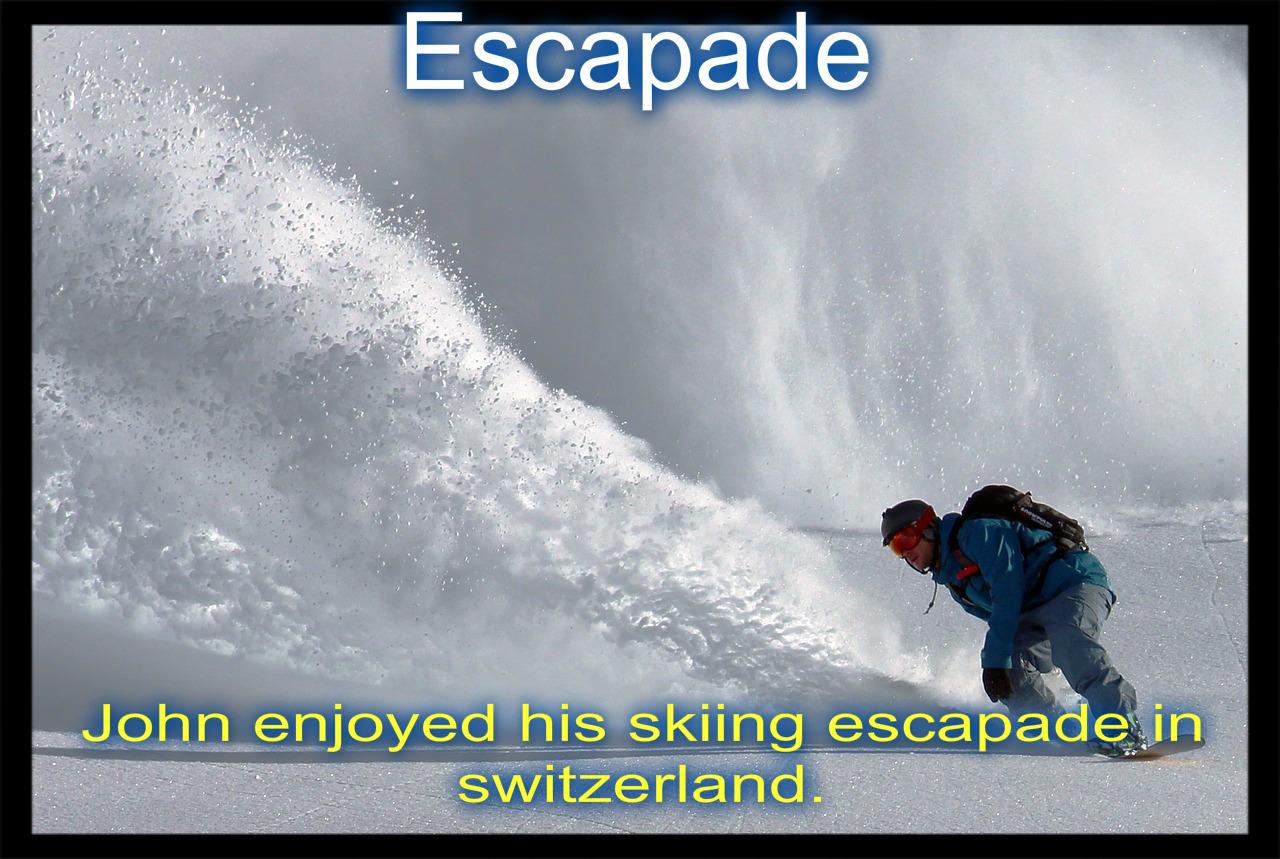 image sentence define escapade visual dictionary image escapade