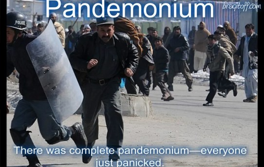 how to use pandemonium in a sentence