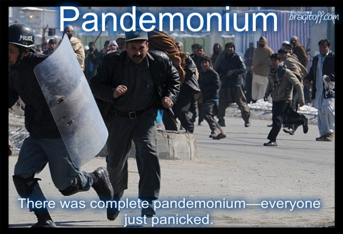 image sentence: There was complete pandemonium-everyone just panicked.