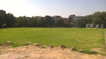 image pic photo Acharya Narendra dev college sports ground football court basketball court volleyball