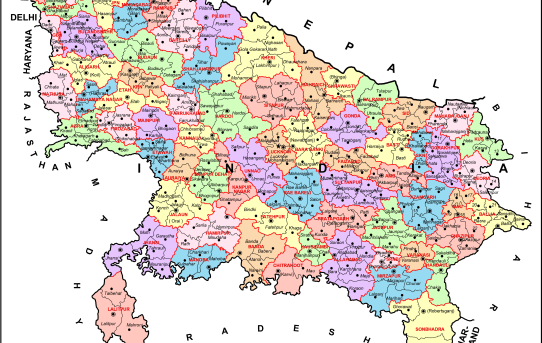 uttar pradesh map political map india state