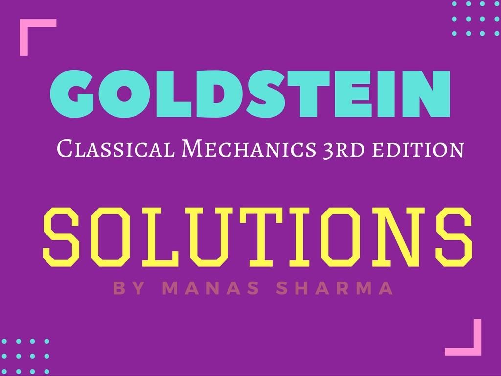 Goldstein Classical Mechanics Solution Pdf