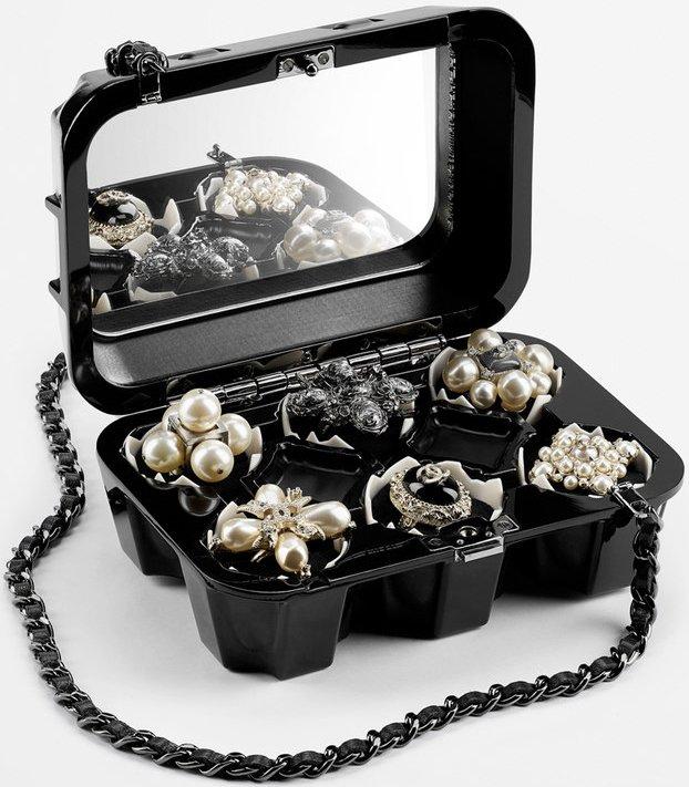 Chanel Egg Carton Jewelry Box Clutch Bag Bragmybag