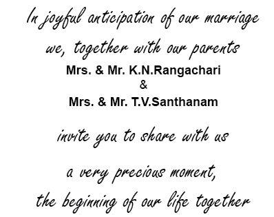 You Can Send Invitation Message Through A Wedding Card