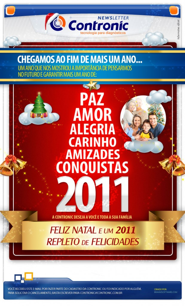 Newsletter de Natal da Contronic 2010