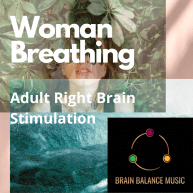 Woman Breathing Right Brain Stimulation