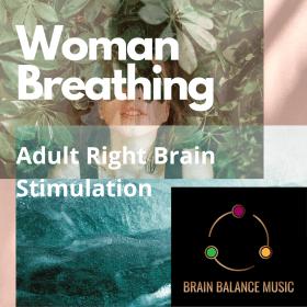 Woman Breathing Right Brain Stimulation